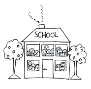 school clip art childrens drawing