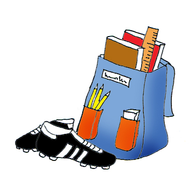 satchel football boots color clipart