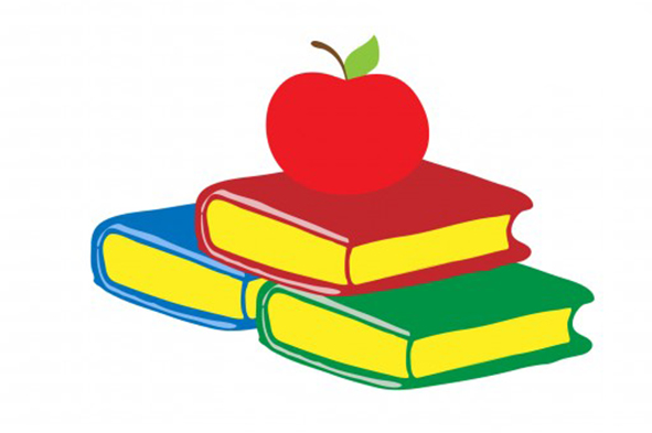 school clip art books apple
