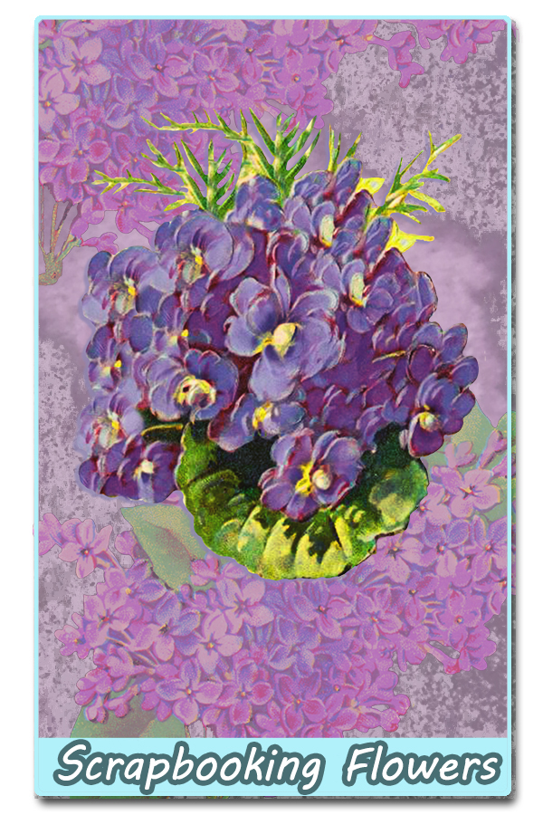 digital scrapbooking flowers clip art