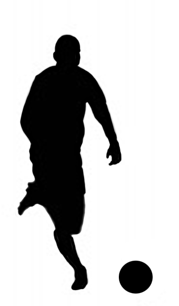 senior soccer player silhouette