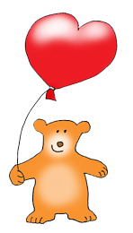 valentine bear with heartshaped balloon