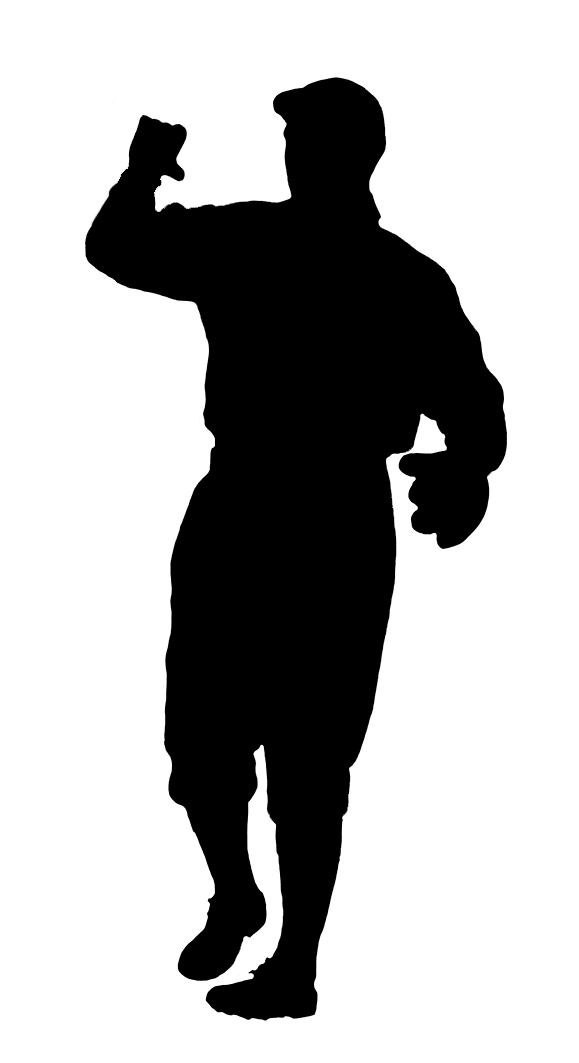 silhouette baseball player