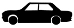 silhouette clipart car silhouette black white