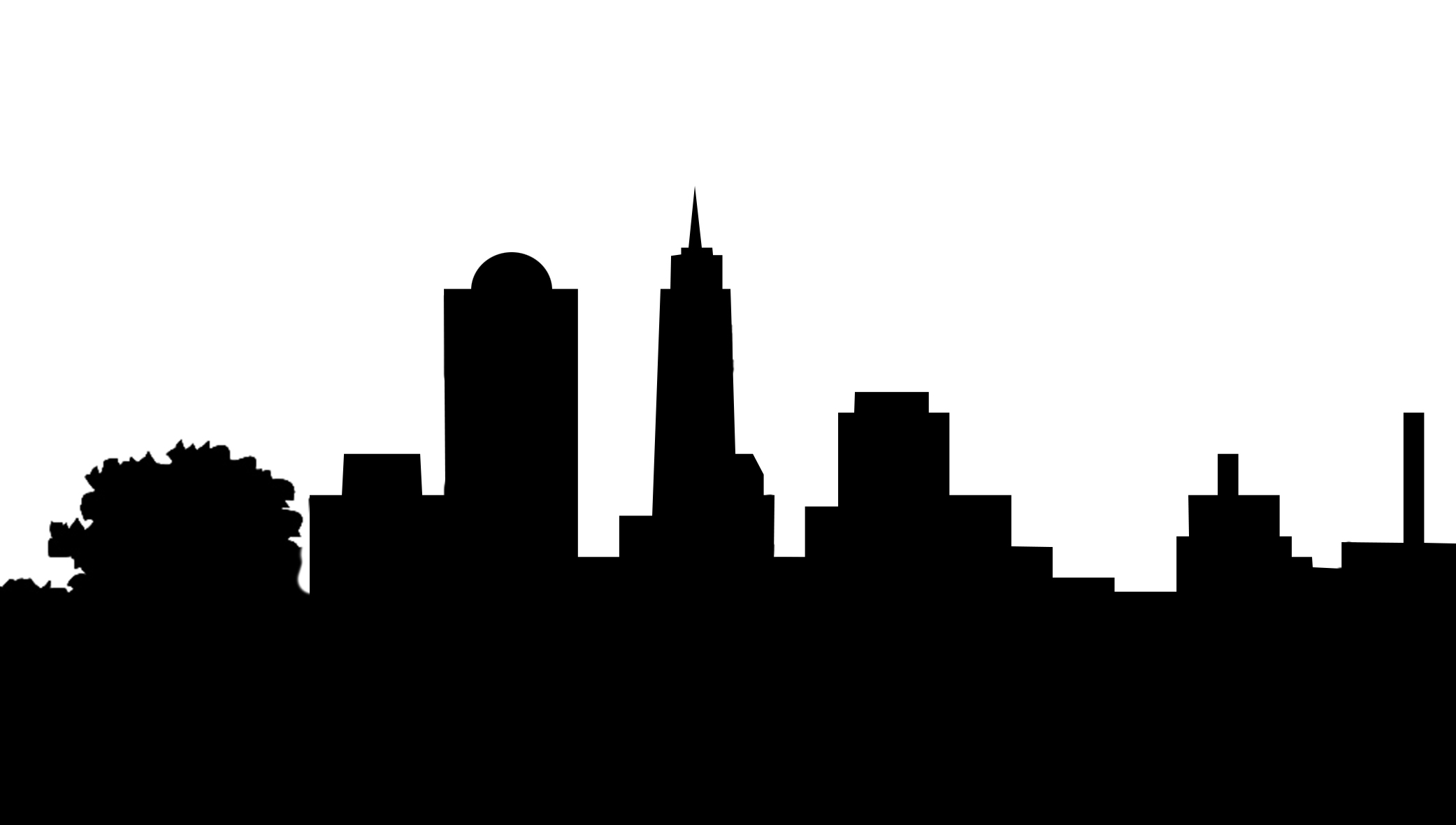 silhouette clipart skyline of city