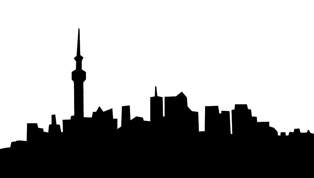 skyline silhouette of city