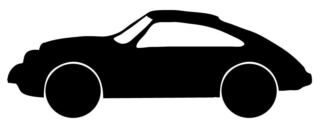 porche car silhouette