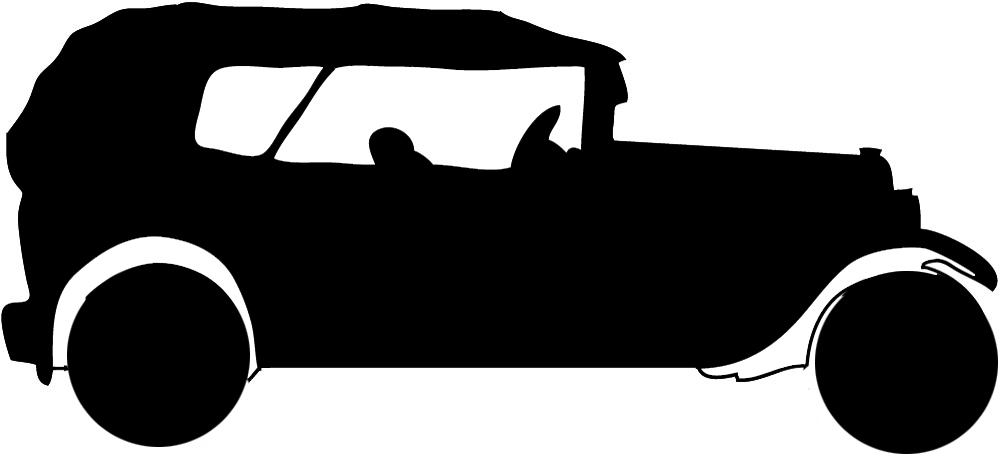 silhouette clipart old car