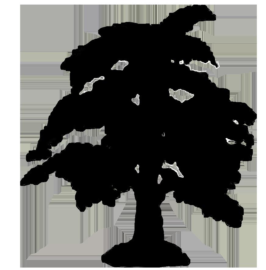 silhouette graphics big tree