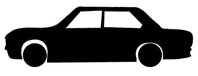 car silhouette black white