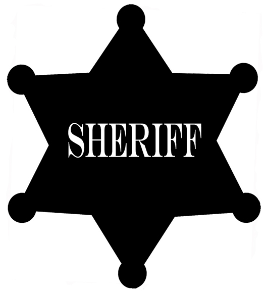 silhouette graphics sheriff star