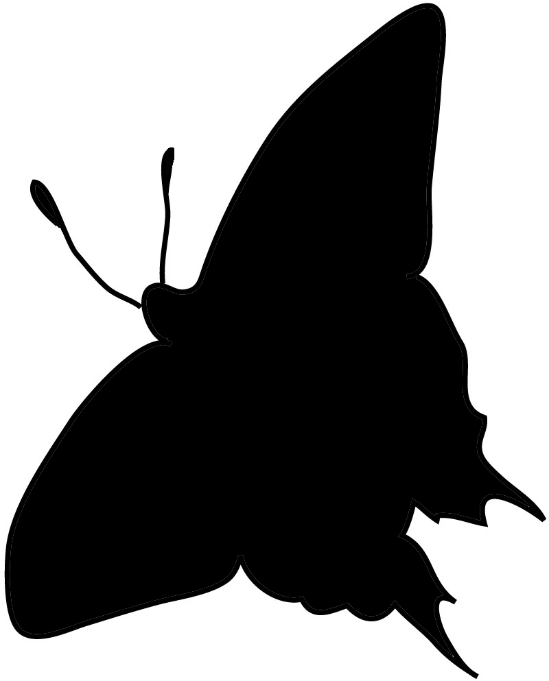Butterfly silhouette Swallowtail