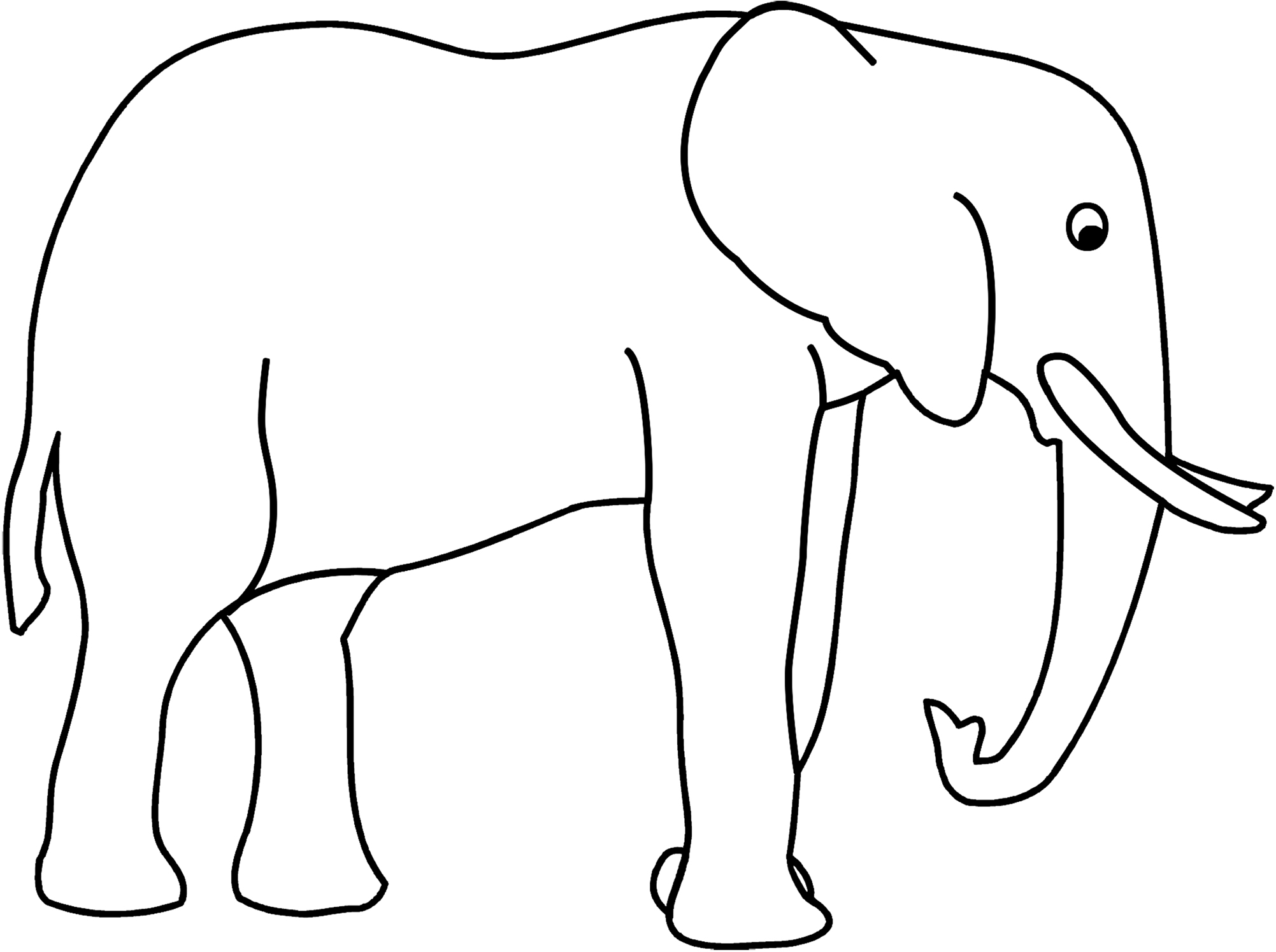elephant silhouette coloring