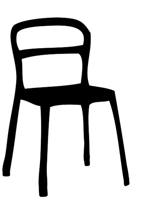 silhouette of chair