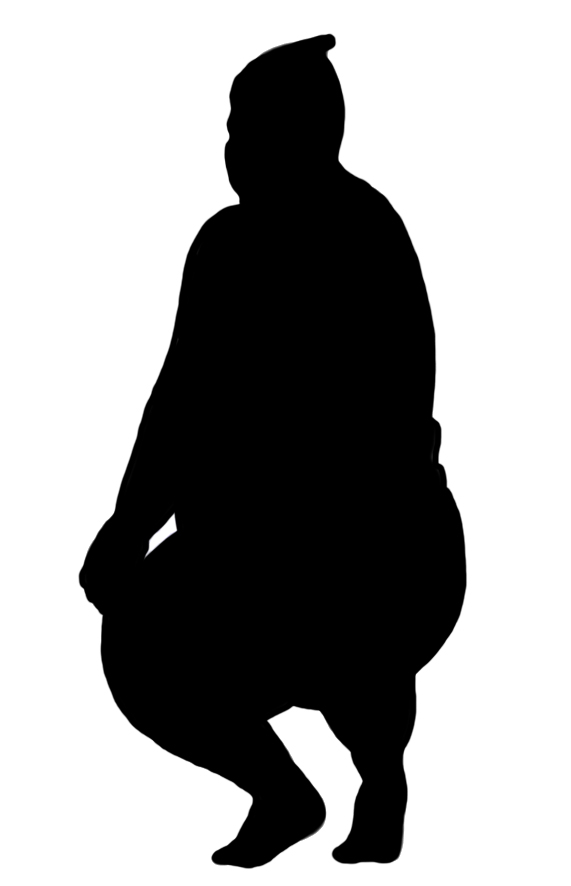 silhouette of sumo Wrestler