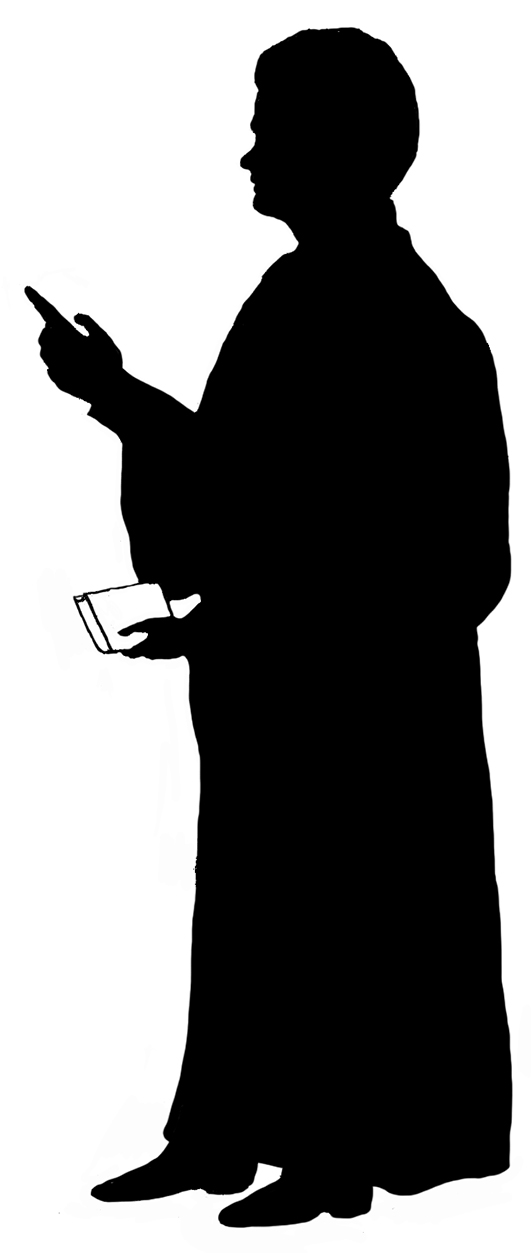 silhouette man with book