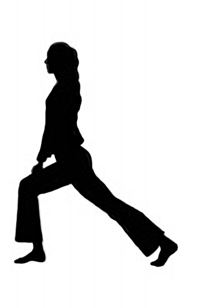 silhouette clipart of women's gymnastics