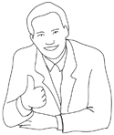 businessman giving thumb silhouette lines