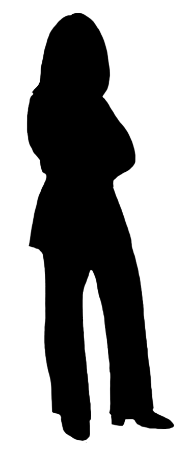 silhouette of standing woman