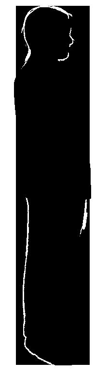 sideway silhouette of man