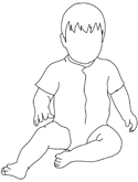 silhouette of small child sitting