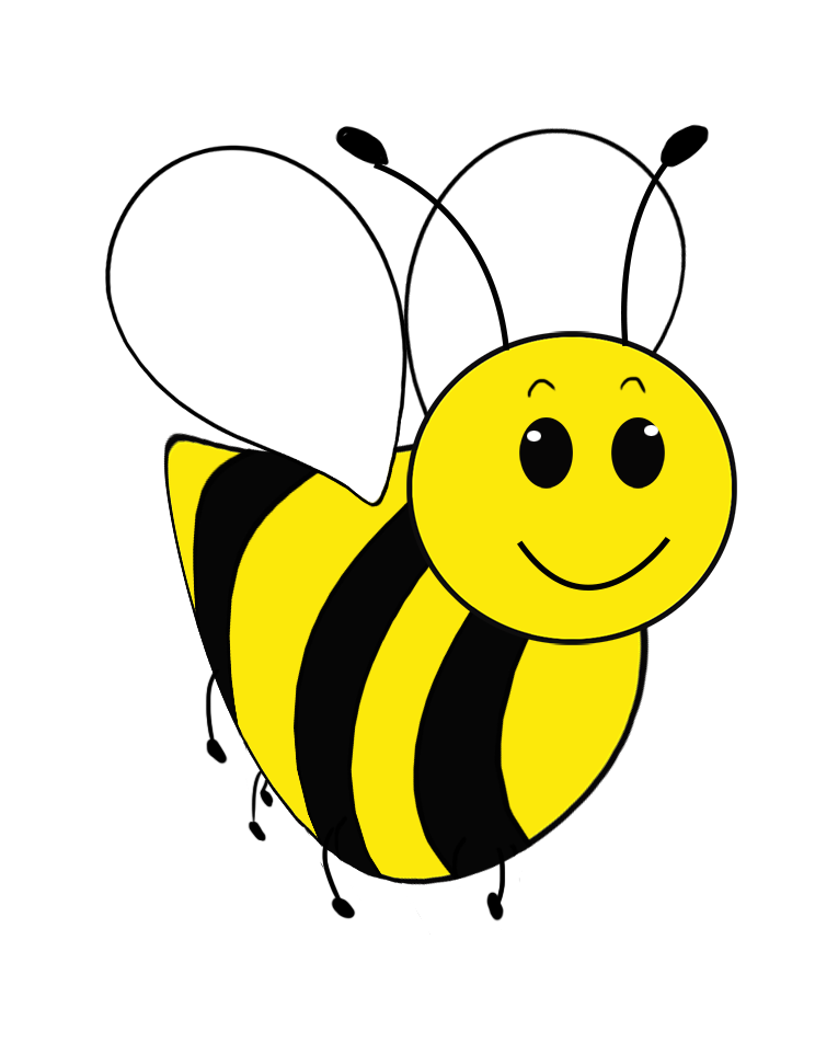 frontal bee clipart simple