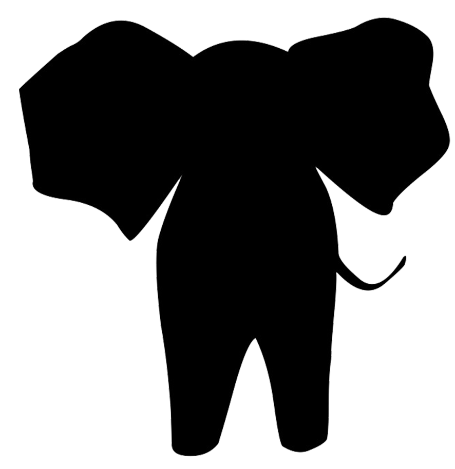 simple elephant silhouette