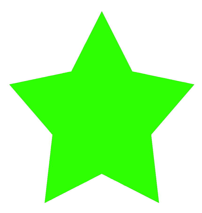 green 5-pointed star