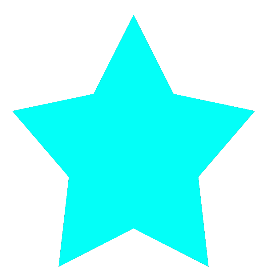 Light blue 5-pointed star