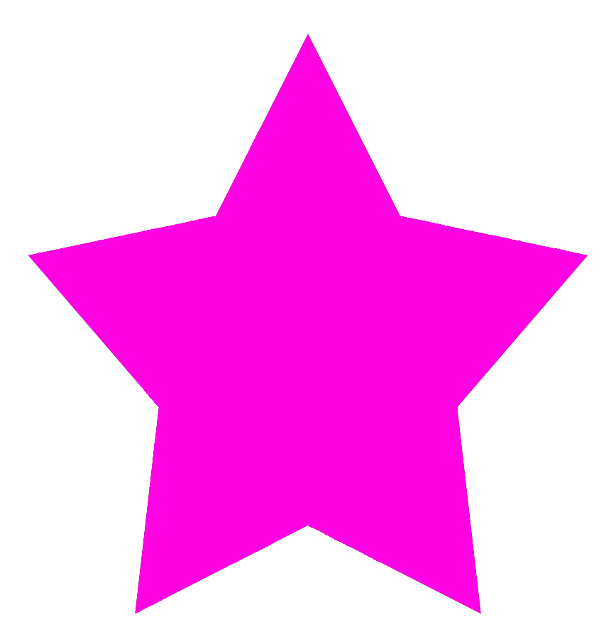 Pink star shape