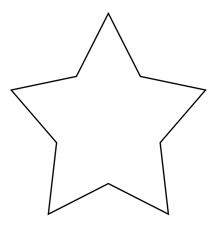 simple star clipart template