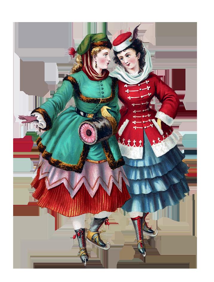 Victorian skating women