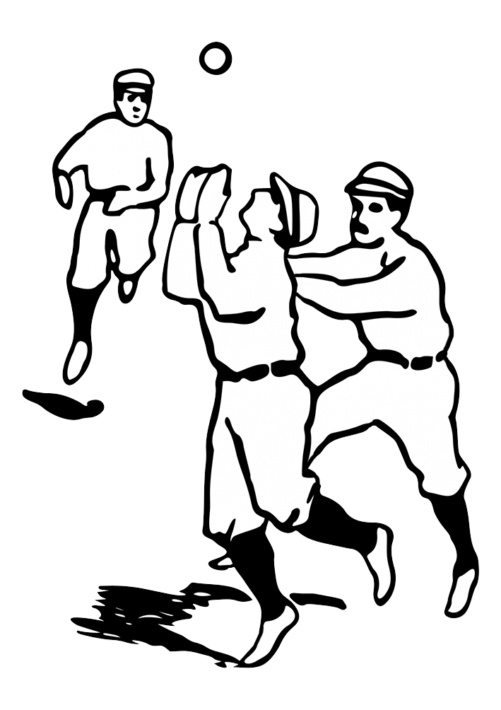 baseball sketch of players