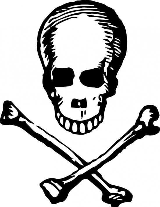 skull and crossbone drawing