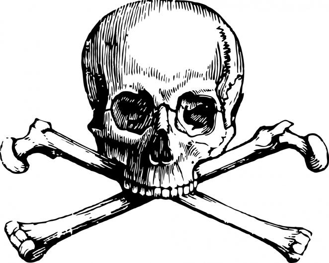 skull and crossbone