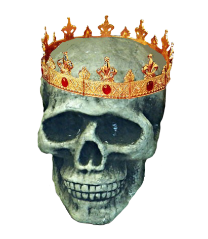 head skull with crown
