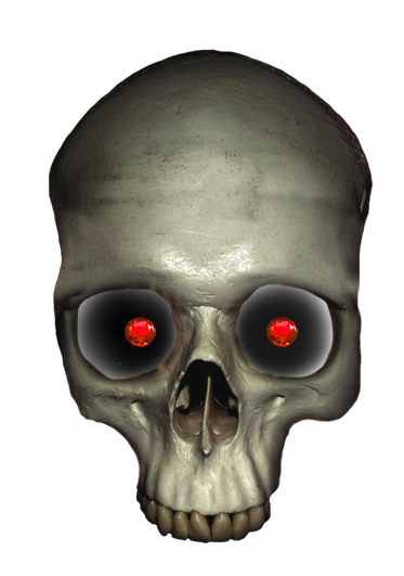 skull with ruby eyes