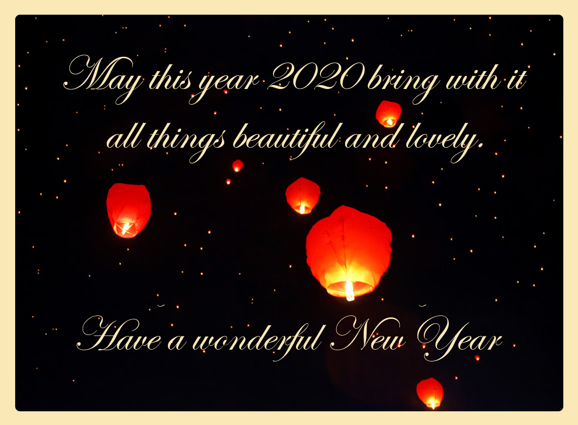 sky lanterns 2020 new year clipart