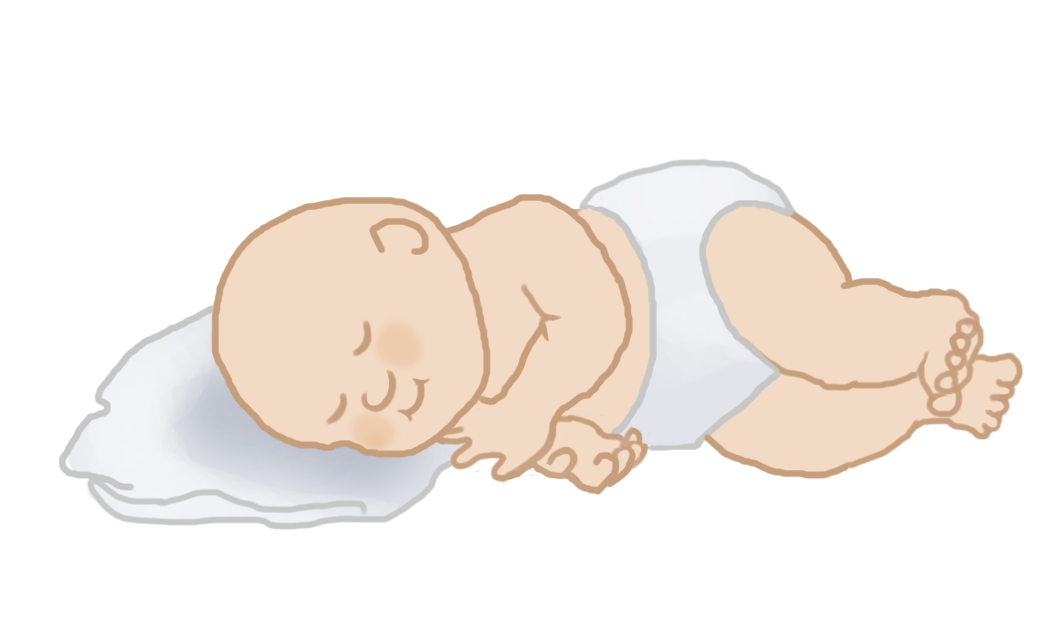 sleeping baby clipart on pillow