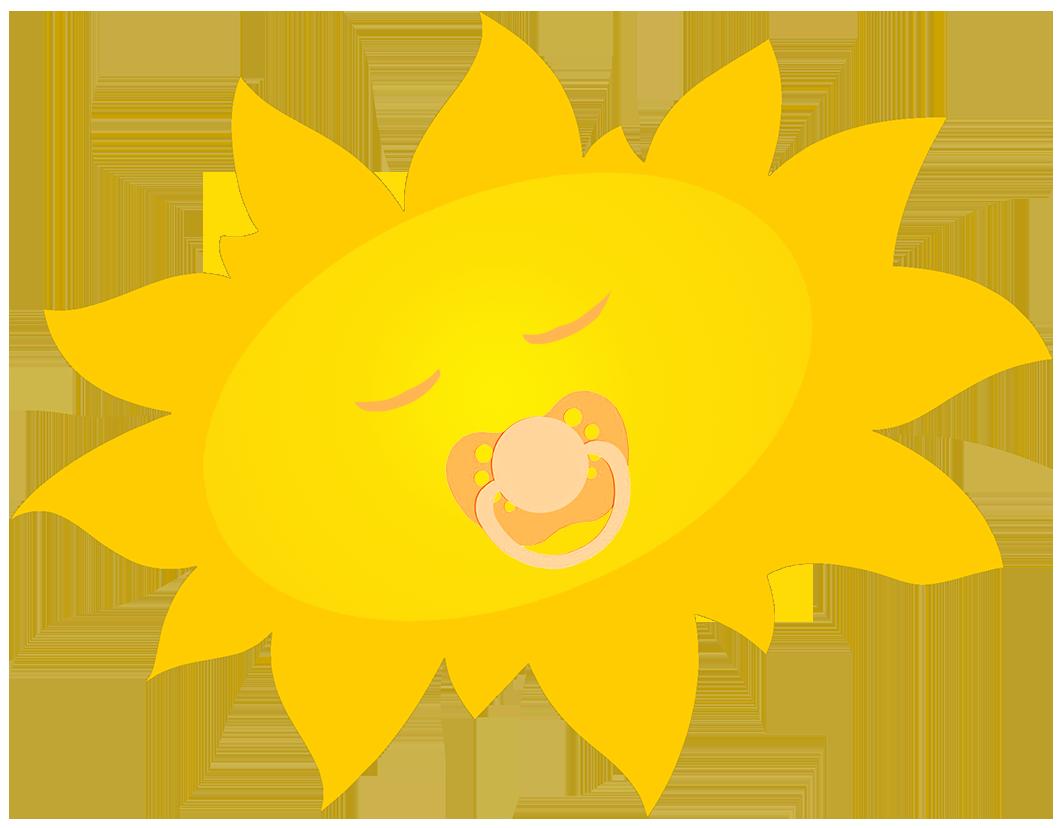 sleeping baby sun