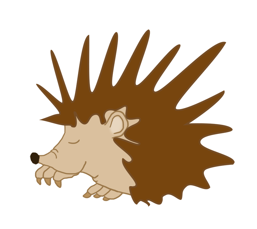 sleeping hedgehog clipart