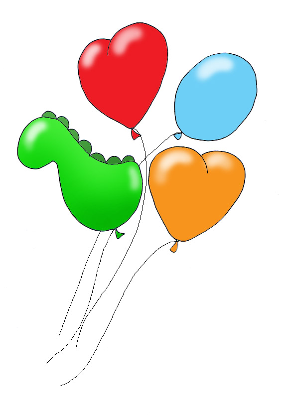 colored balloons for party