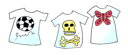 T-shirt decorating for slumber party
