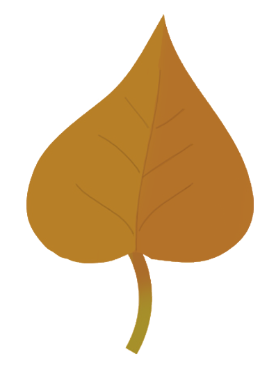 small brown autumn leaf drawing