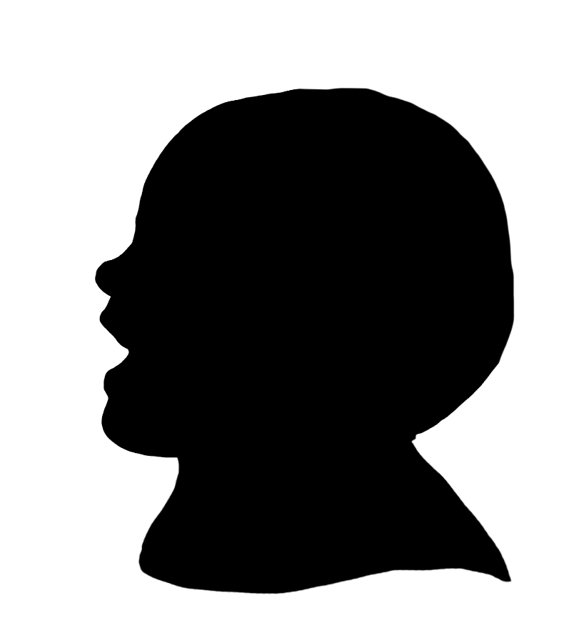 laughing toddler silhouette