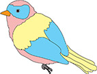 small example of bird drawings
