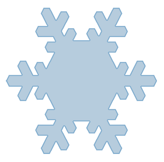 blue snowflake shape