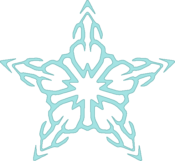 template of snow flake