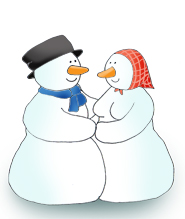 Christmas pictures snowman couple