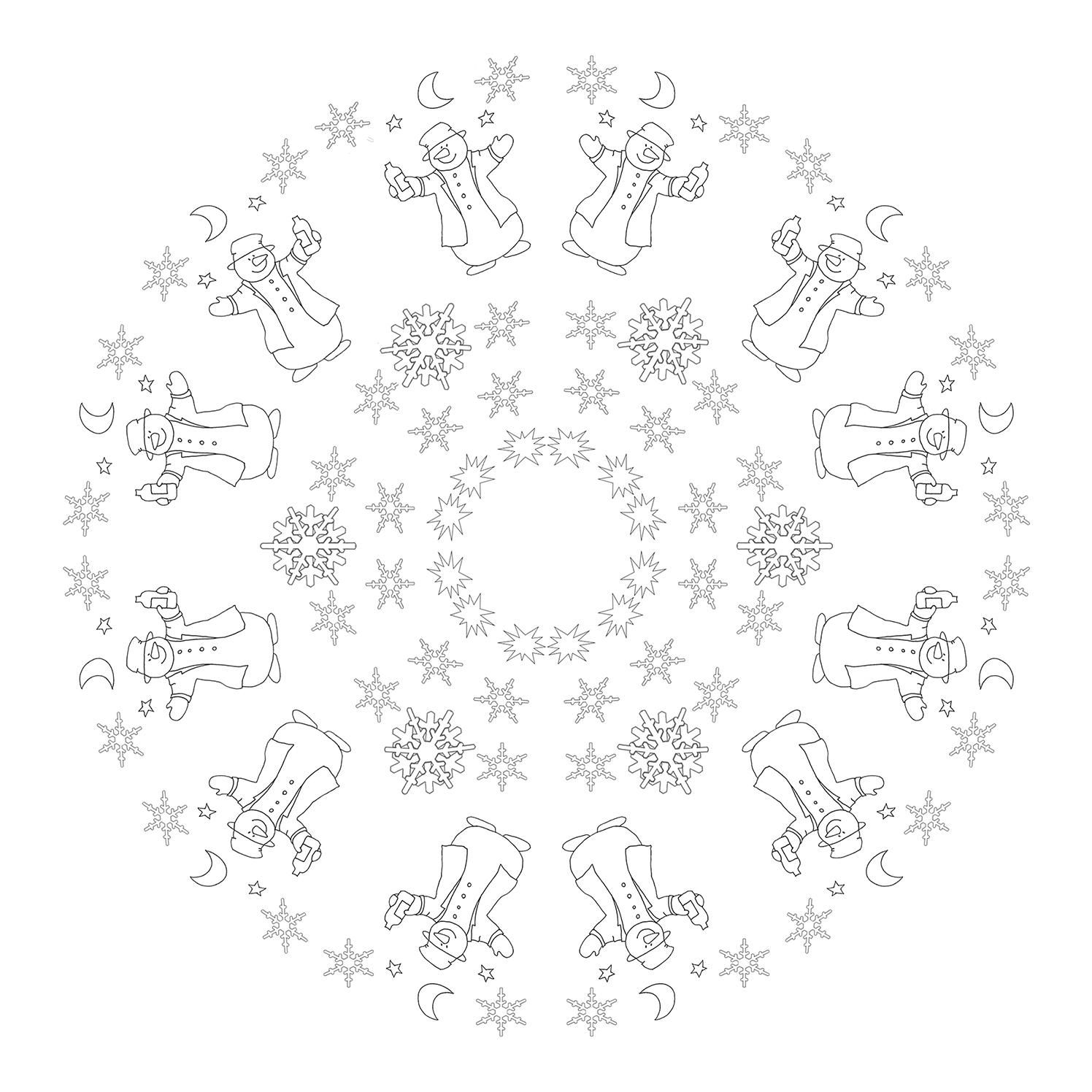 snowman mandala